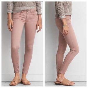 AEO Dusty Rose Skinny stretch Jeans, size 8